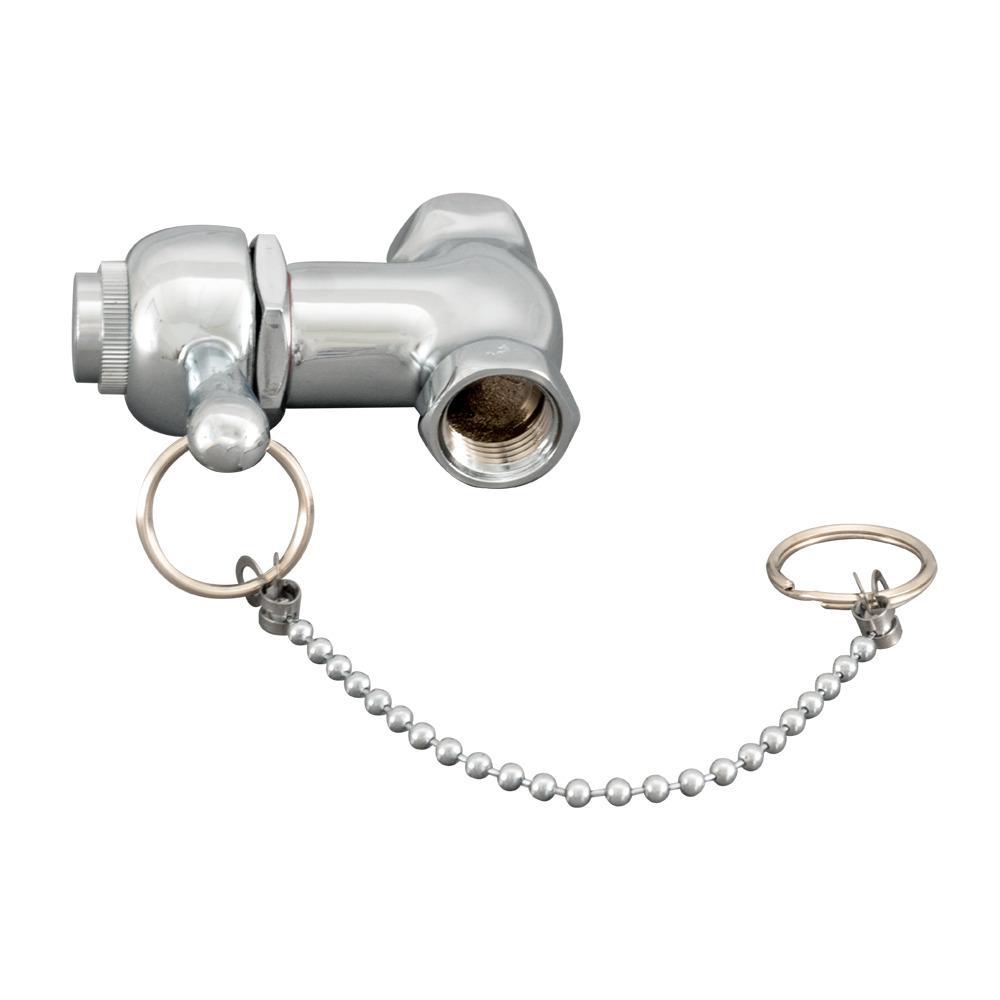 1/2 in. chrome FIP x FIP Self Closing Pull Chain Shower Valve