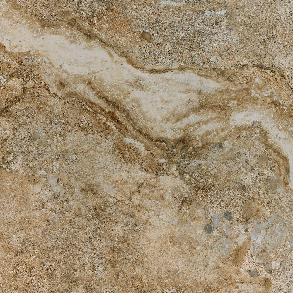 Florida Tile Home Collection Venetia Noce 18 in. x 18 in. Porcelain ...