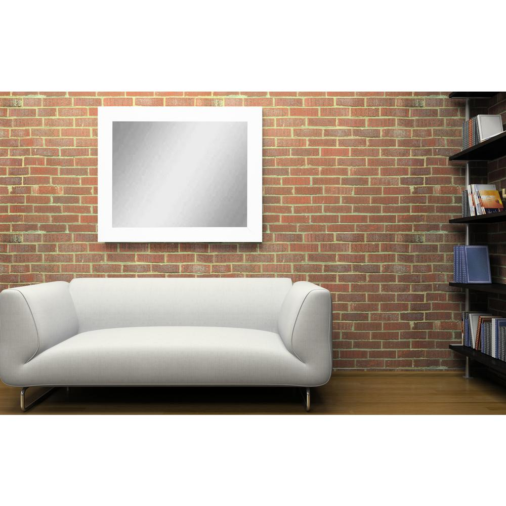 Sofa Decor Matte White Decorative Framed Wall Mirror-BM003M-1 ...