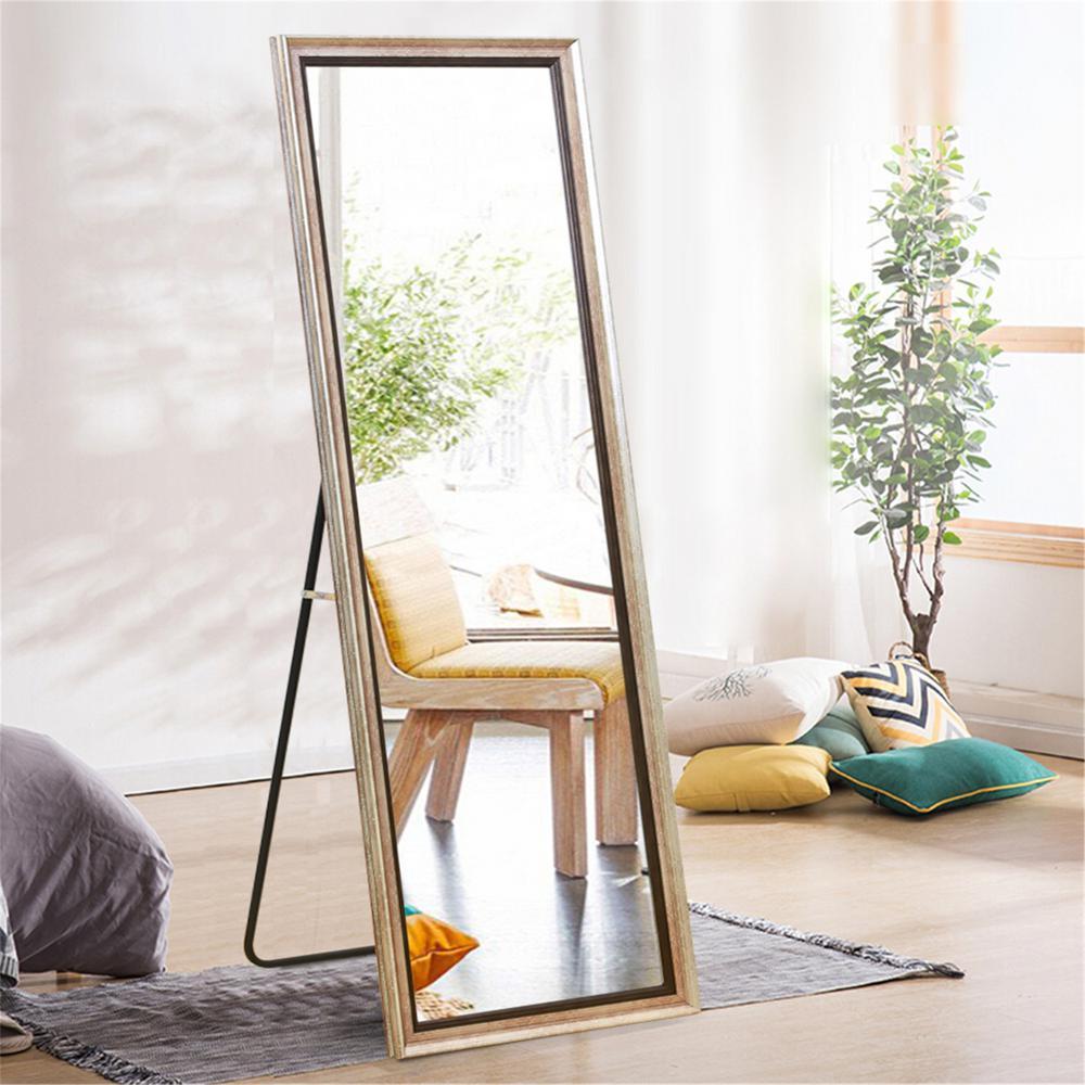 Elegant/Glam Large Rectangular Full Length/Floor Mirror Living Room