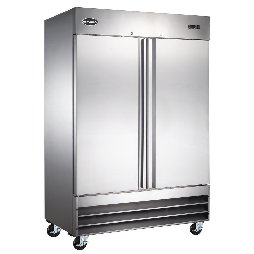 54 In W 47 Cu Ft Two Door Commercial Refrigerator In
