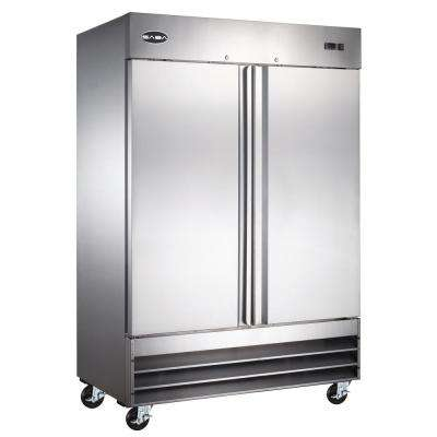 54 in. W 47 cu. ft. Two Door Commercial Refrigerator in Stainless Steel