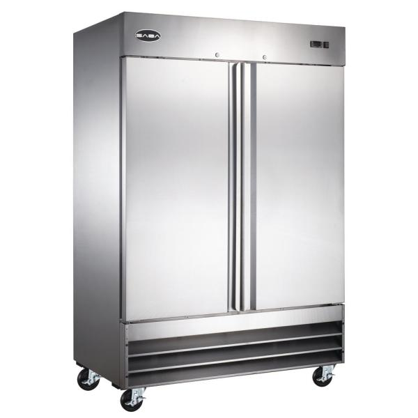 47.0 cu. ft. Two Door Commercial Reach In Upright Freezer in Stainless Steel