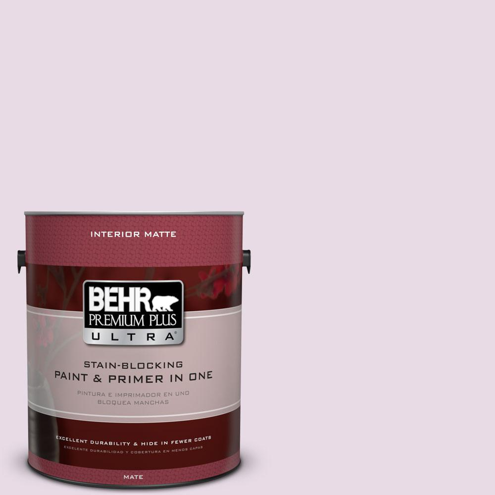 BEHR Premium Plus Ultra 1 gal. #M110-1 Twinkled Pink Matte Interior Paint