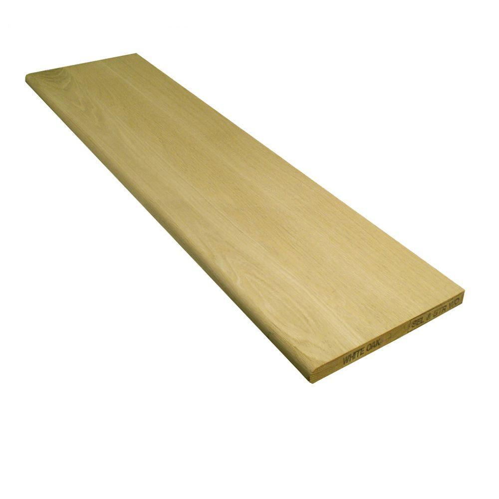 Stairtek 1 in. x 11.5 in. x 42 in. Unfinished White Oak Tread