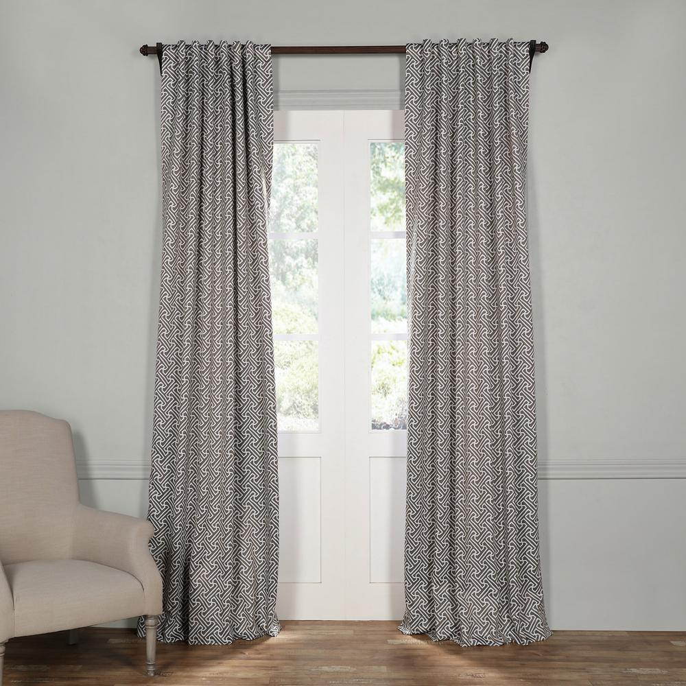 Semi-Opaque Cobblestone Taupe Blackout Curtain - 50 in. W x 96