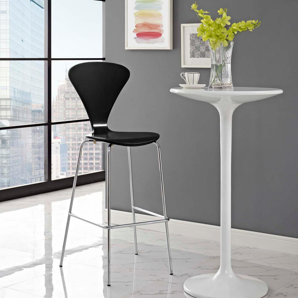 Gentil MODWAY Passage 31 In. Black Bar Stool