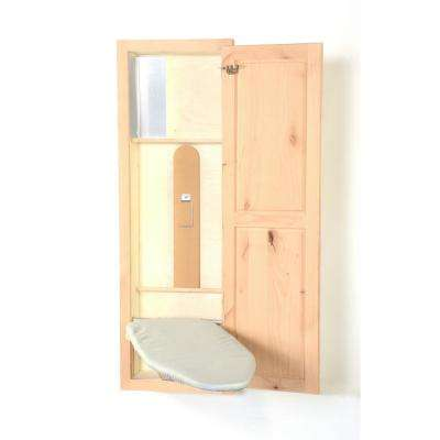 Knotty Alder In-Wall Ironing Board