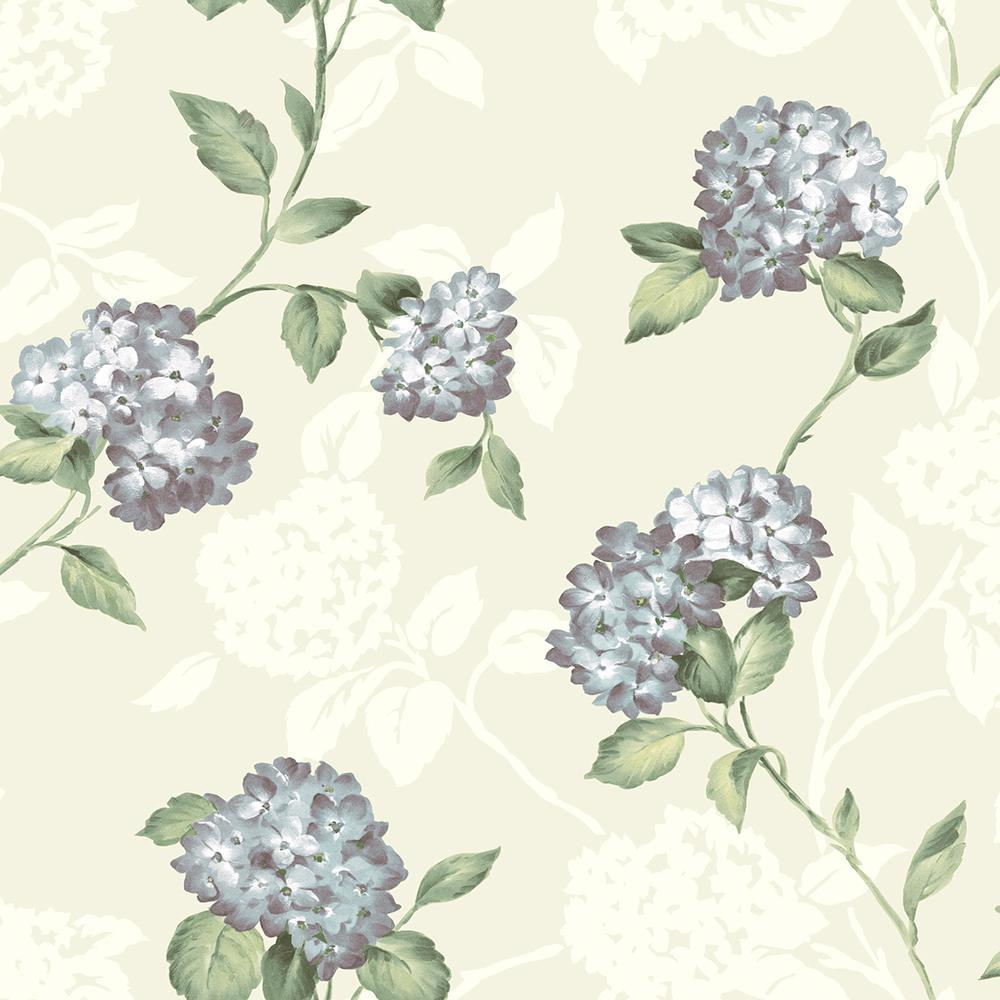Brewster arbor rose mint floral trail wallpaper sample - Floral wallpaper home depot ...