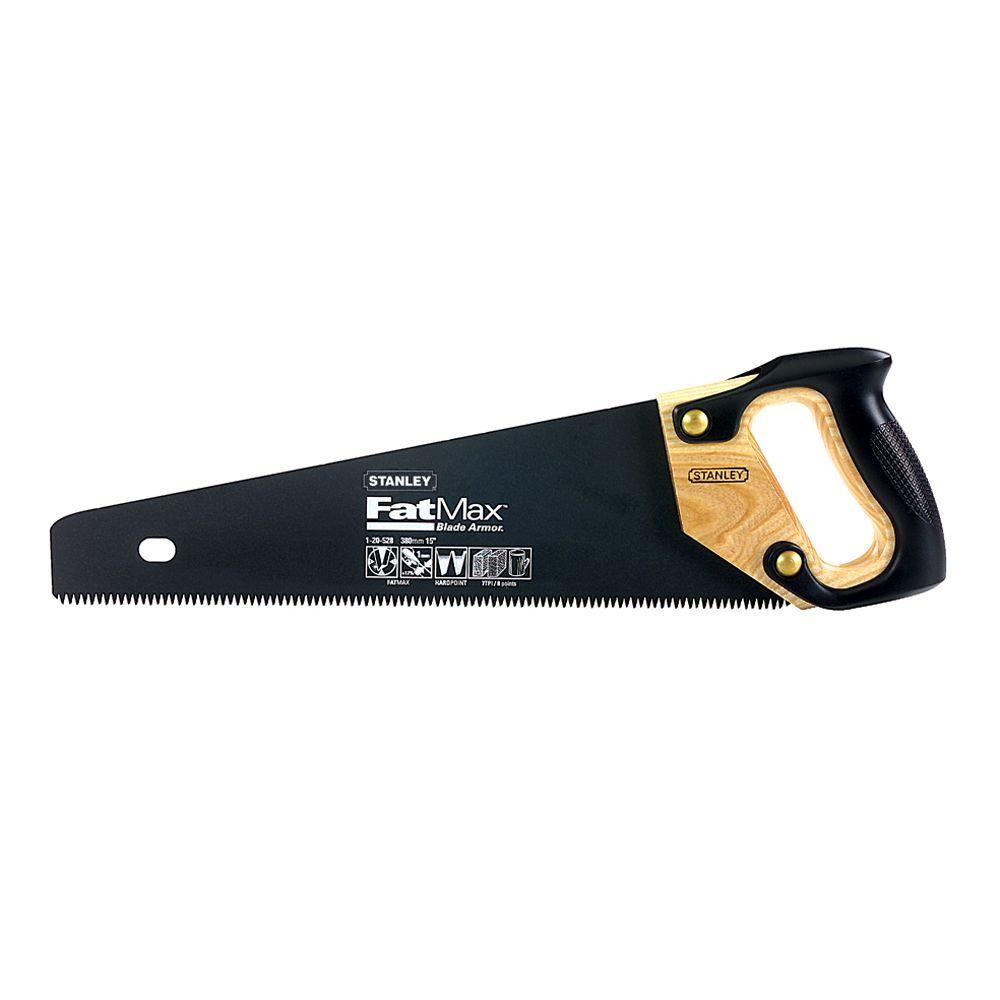 FatMax Stanley 15 in. Hand Saw with Blade Armor