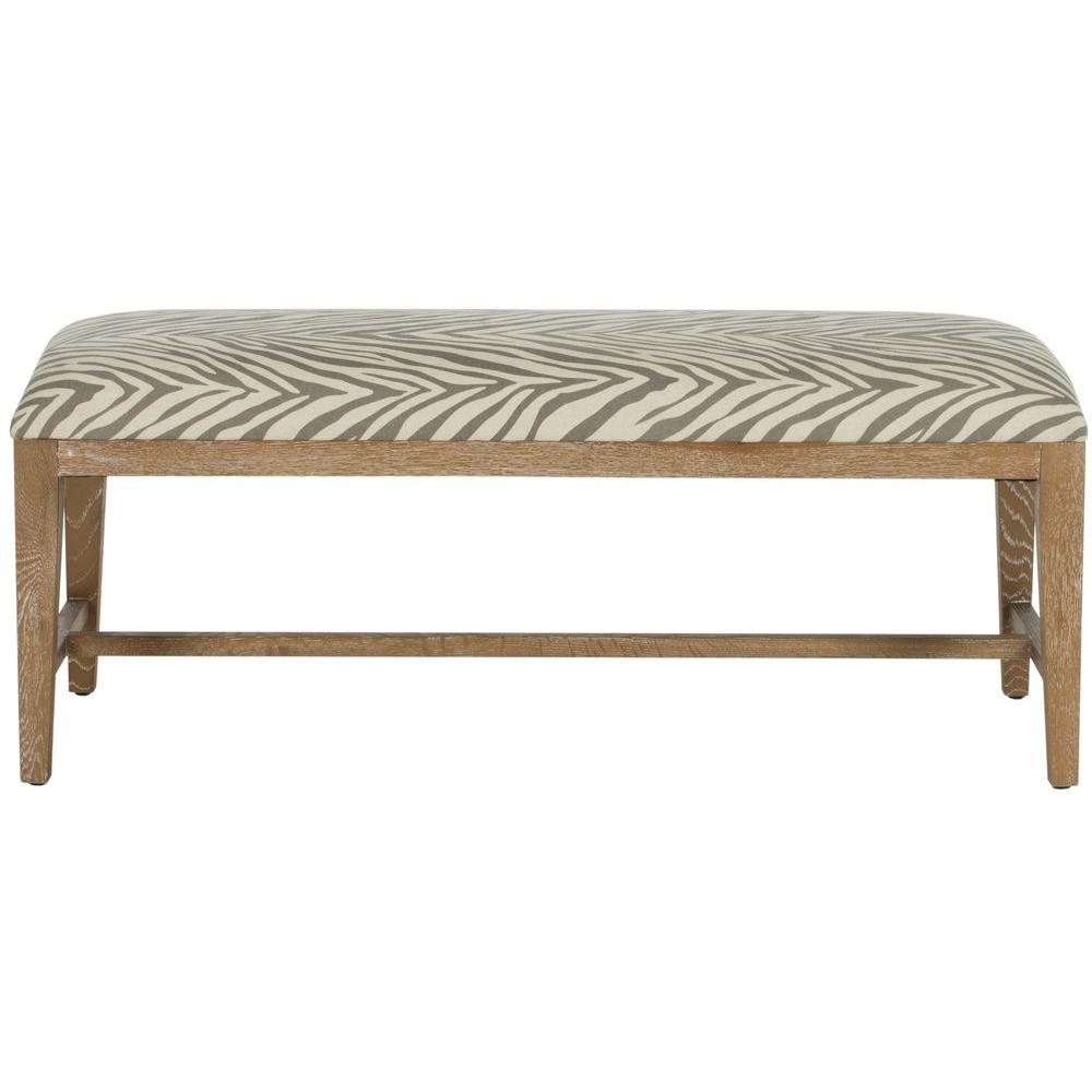Safavieh Zambia Gray Zebra Bench