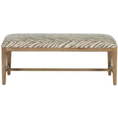 Zambia Gray Zebra Bench