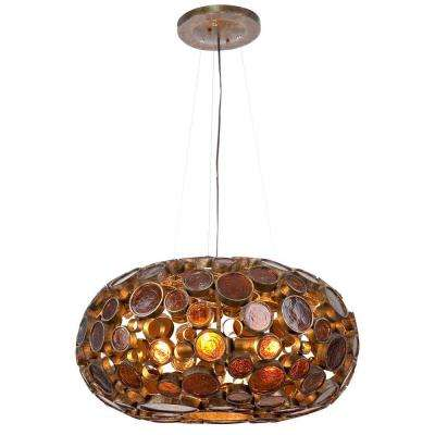 Fascination 4-Light Kolorado Chandelier with Amber Glass