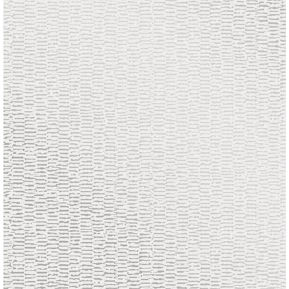 Fleur Silver Texture Wallpaper