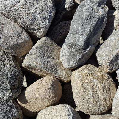 6 in. to 10 in. Gray Granite Landscaping Cobble (2500 lb. Contractor Pallet)