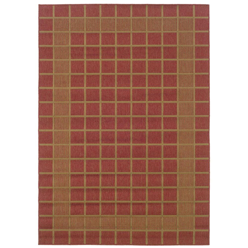 Oriental Weavers Nevis Plaza Red 2 ft. 5 in. x 4 ft. 5 in. Accent Rug