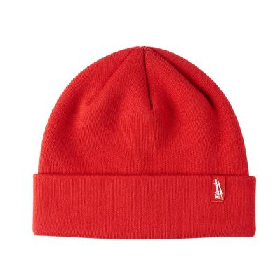 Men's Red Cuffed Knit Hat