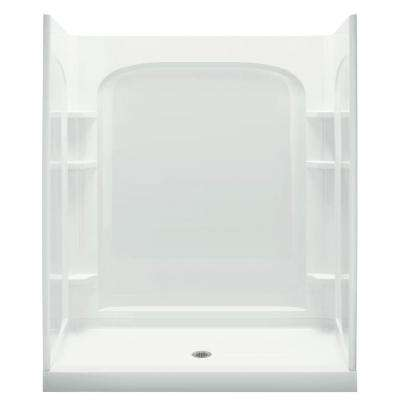 Ensemble 34 in. D x 60 in. W x 77 in. H Curve Shower Kit in White