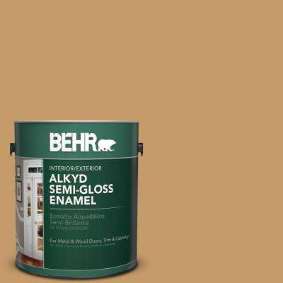 1 gal. #S290-5 Amber Autumn Semi-Gloss Enamel Alkyd Interior/Exterior Paint