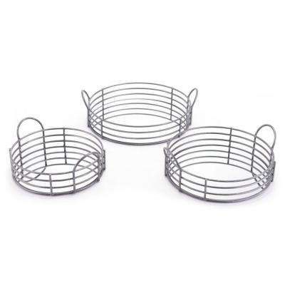 Black Round Trays (Set of 3)