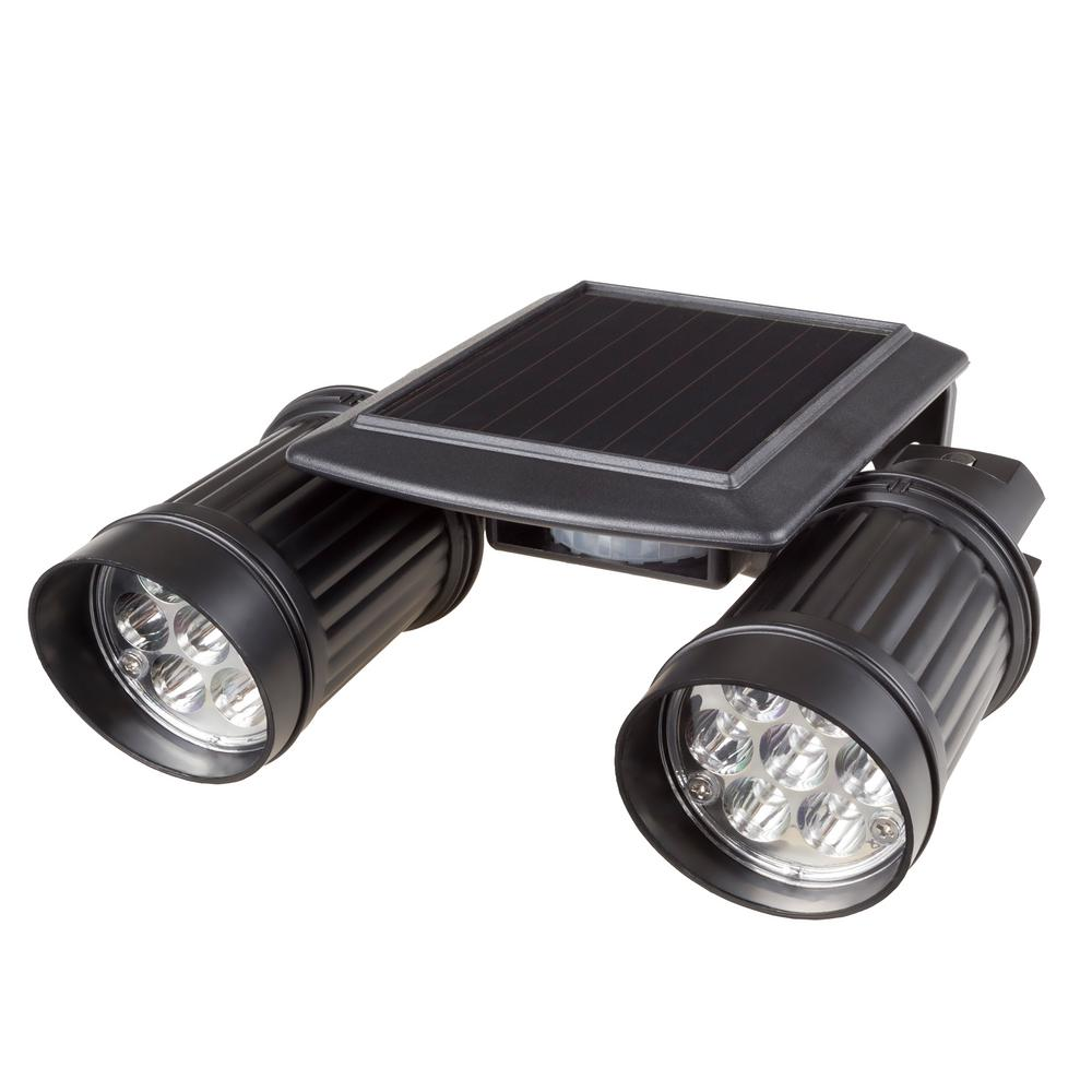 Stalwart Black Motion Activated Outdoor Integrated LED