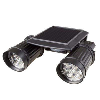 Black Motion Activated Outdoor Integrated LED Spot Light