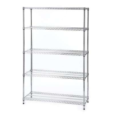 Chrome 5-Shelf Deco Wire 18 in. x 48 in. x 72 in.