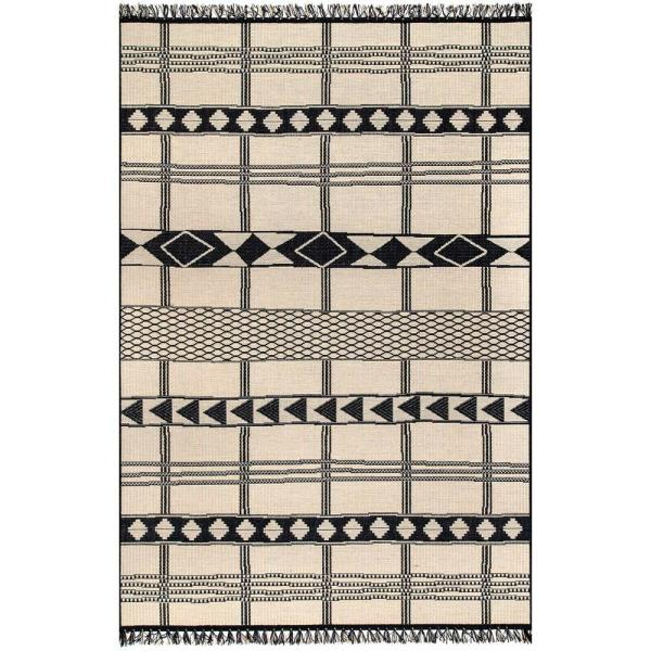 Ramona Tribal Ivory 9 ft. x 13 ft. Indoor/Outdoor Area Rug