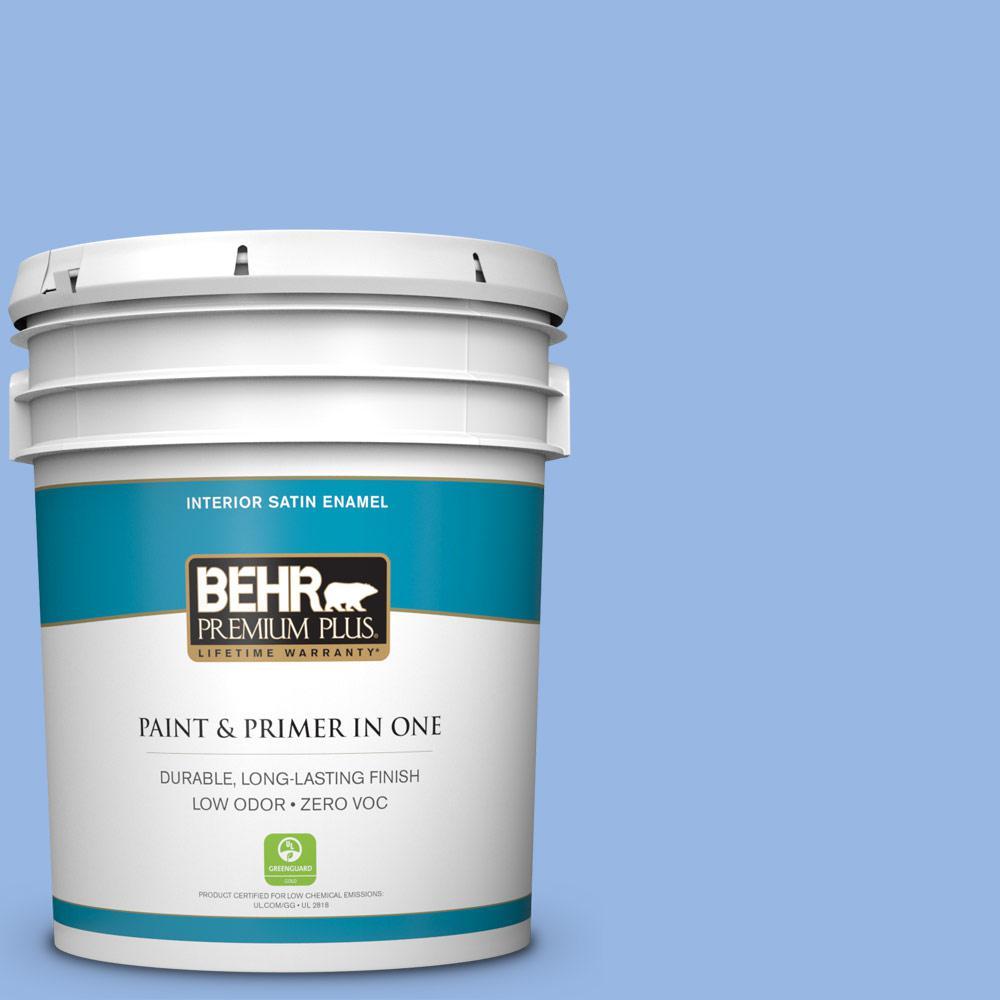 BEHR Premium Plus 5-gal. #P530-3 Honest Satin Enamel Interior Paint