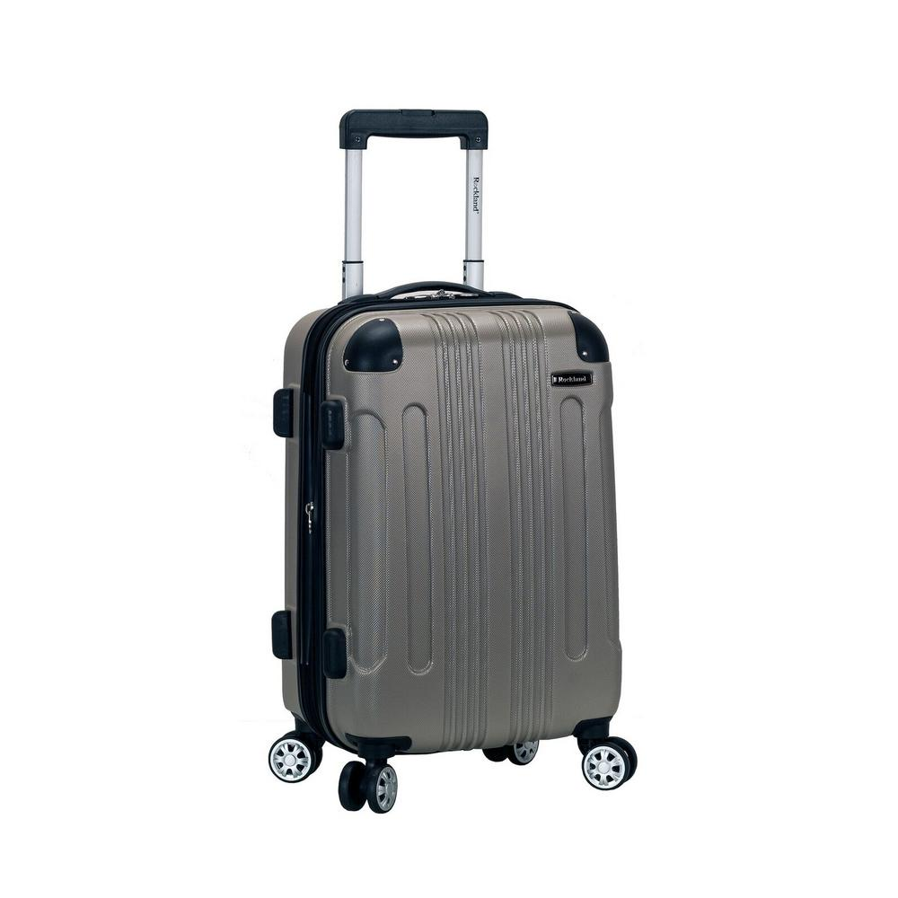 Rockland F1901 Expandable Sonic 20 in. Hardside Spinner Carry On Luggage, Silver was $120.0 now $60.0 (50.0% off)
