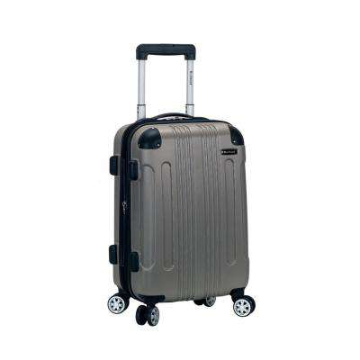 F1901 Expandable Sonic 20 in. Hardside Spinner Carry On Luggage, Silver