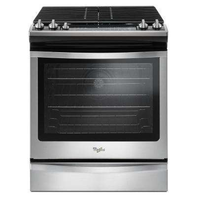 5.8 cu. ft. Slide-In Gas Range with Center Oval Burner in Stainless Steel
