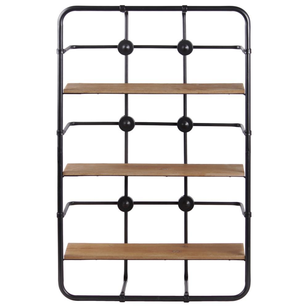 18 in. x 4 in. x 28.75 in. Gray Metal Wall Shelf