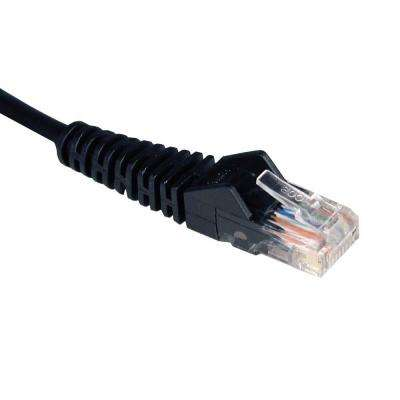 3-ft. Cat5e / Cat5 350MHz Snagless Molded Patch Cable RJ45 - Black