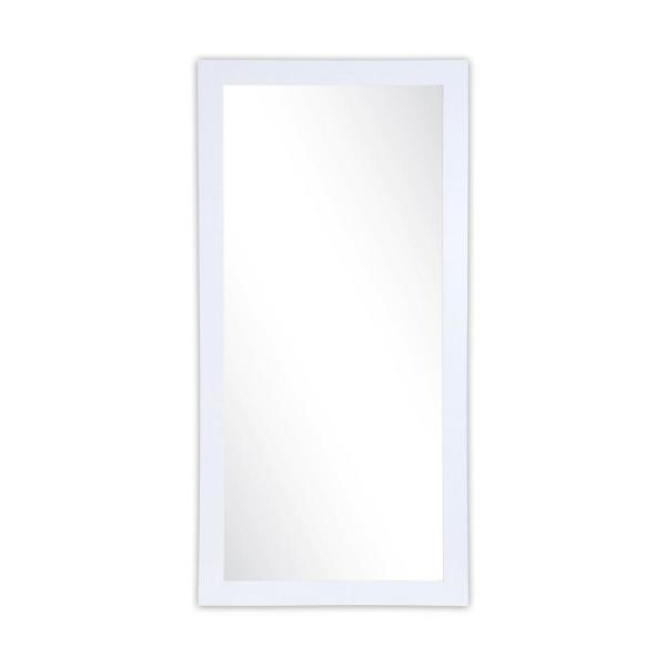 Oversized Pearl White Composite Glam Industrial Mid-Century Modern Mirror (71 in. H X 32 in. W)