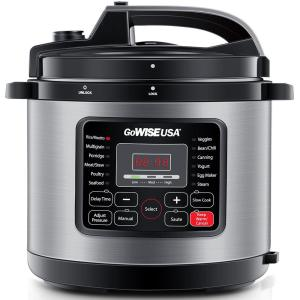 Deals on GoWISE USA 12.5 Qt. Electric Pressure Cooker w/12 Presets