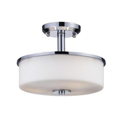 Lawrence 3-Light Chrome Incandescent Ceiling Flush Mount