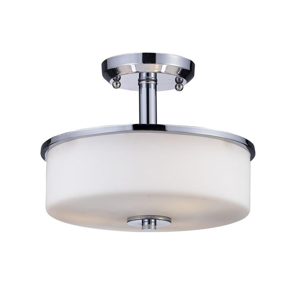 Lawrence 3-Light Chrome Incandescent Ceiling Flushmount