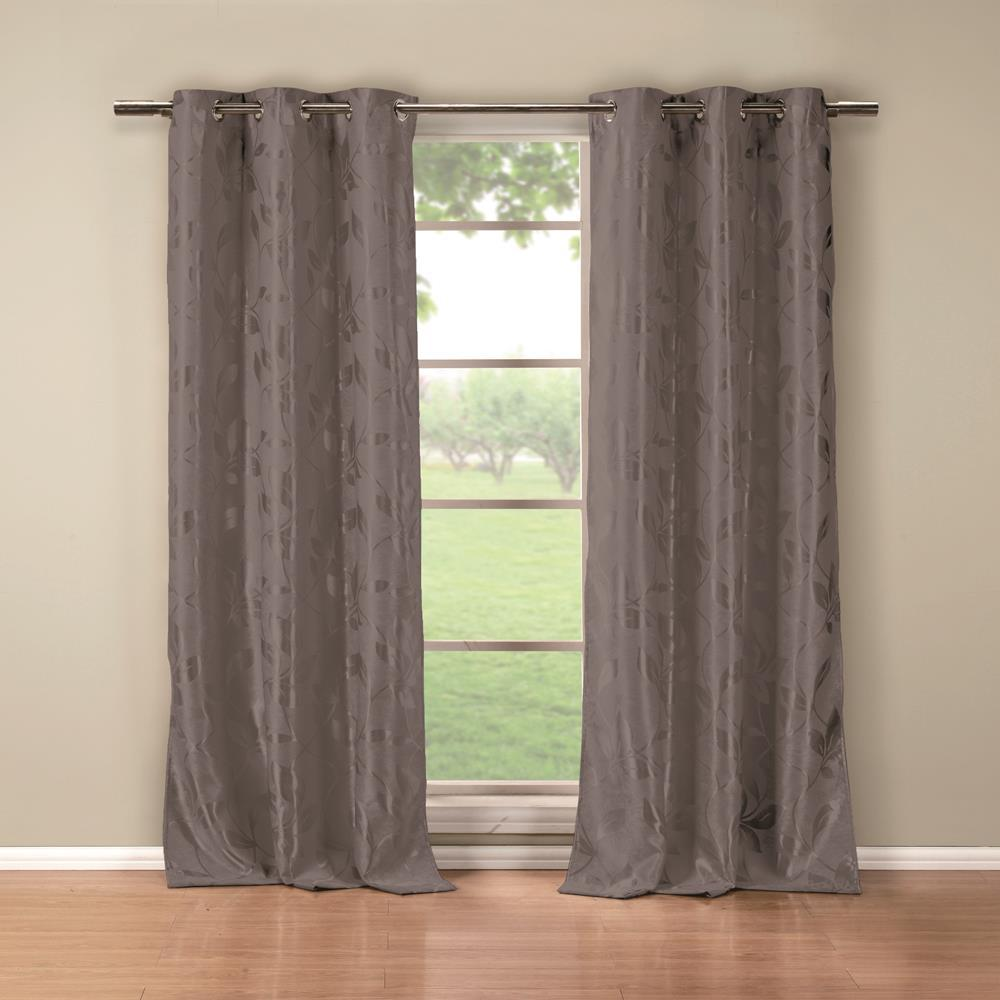 Duck River Blair 84 in. L x 36 in. W Polyester Blackout Curtain Panel in Grey (2-Pack)