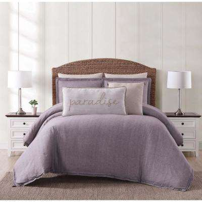 Chambray Coast Plum King Comforter with 2-Shams