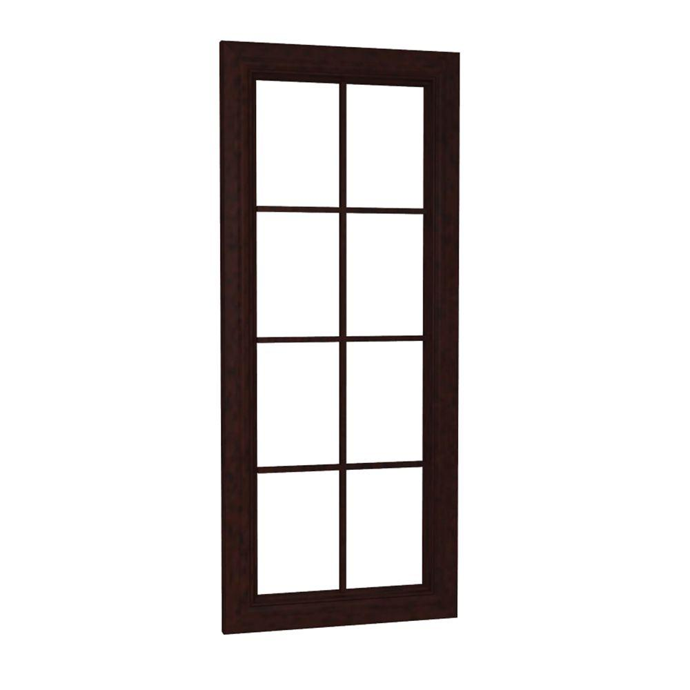 Home Decorators Collection Somerset Assembled 18 x 42 x 0.75 in. Wall Mullion Door in Manganite