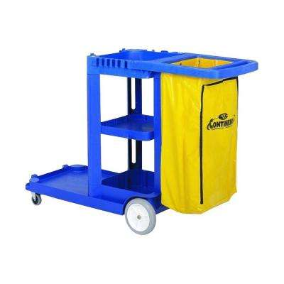 25 Gal. 38 in. x 55 in. x 30 in. Janitorial Cart
