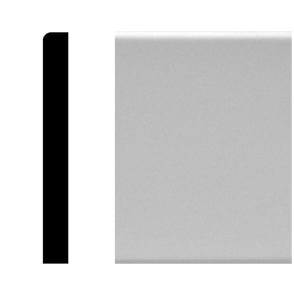 House of Fara 1/2 in. x 4-1/4 in. x 96 in. MDF Primed Base Moulding ...