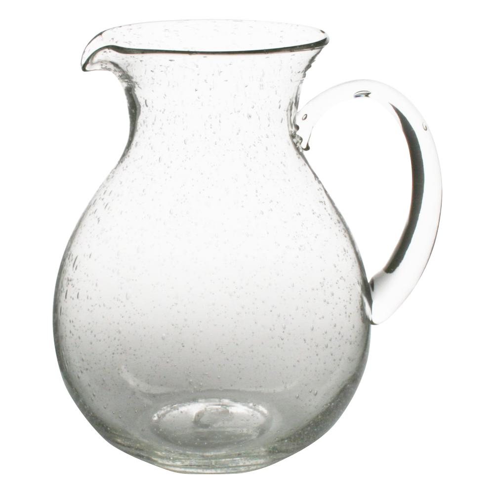 Tag 64 oz. Clear Bubble Glass Pitcher