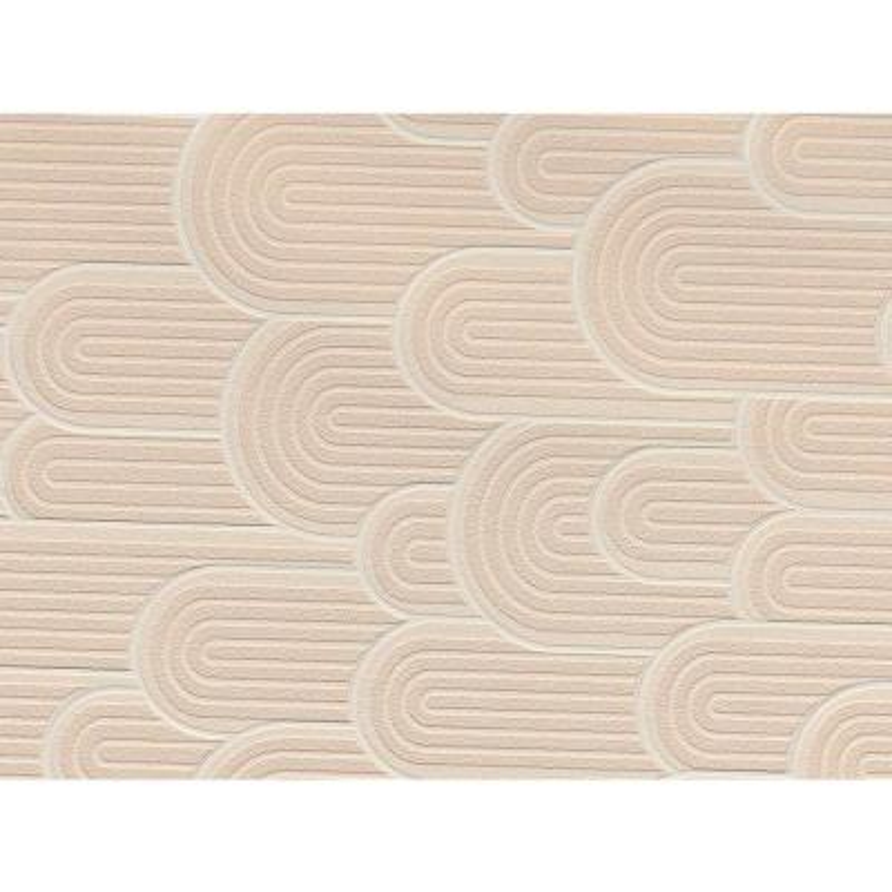 Beige Retro Geometric Wallpaper