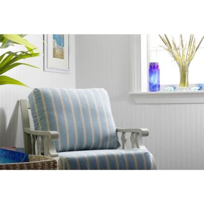 White Beadboard Paintable Removable Wallpaper