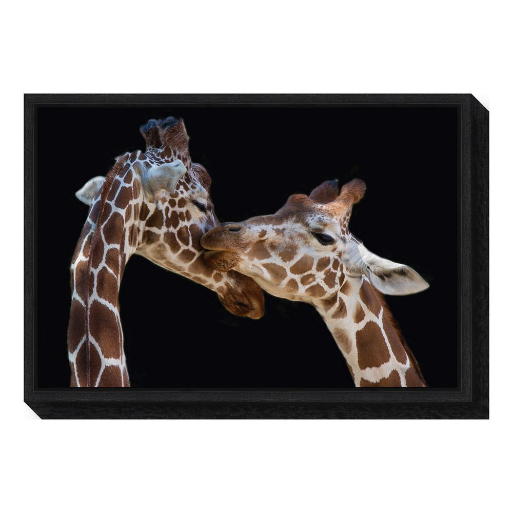 """The kiss"" by Manfred Foeger Framed Canvas Wall Art"
