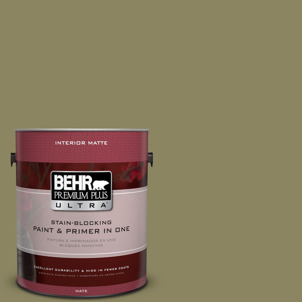 BEHR Premium Plus Ultra 1 gal. #S350-5 Green Scene Matte Interior Paint