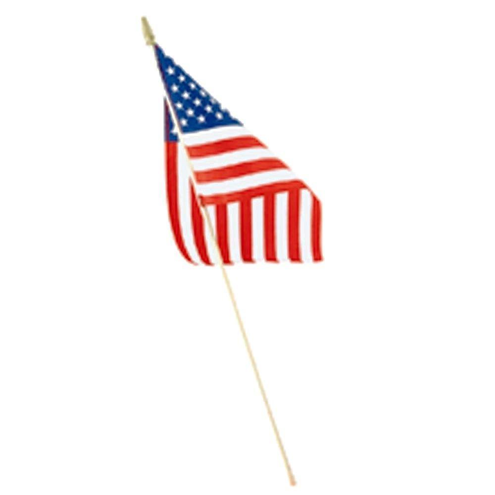 Seasonal Designs 8 in. x 12 in. Polycotton U.S. Hand Flag