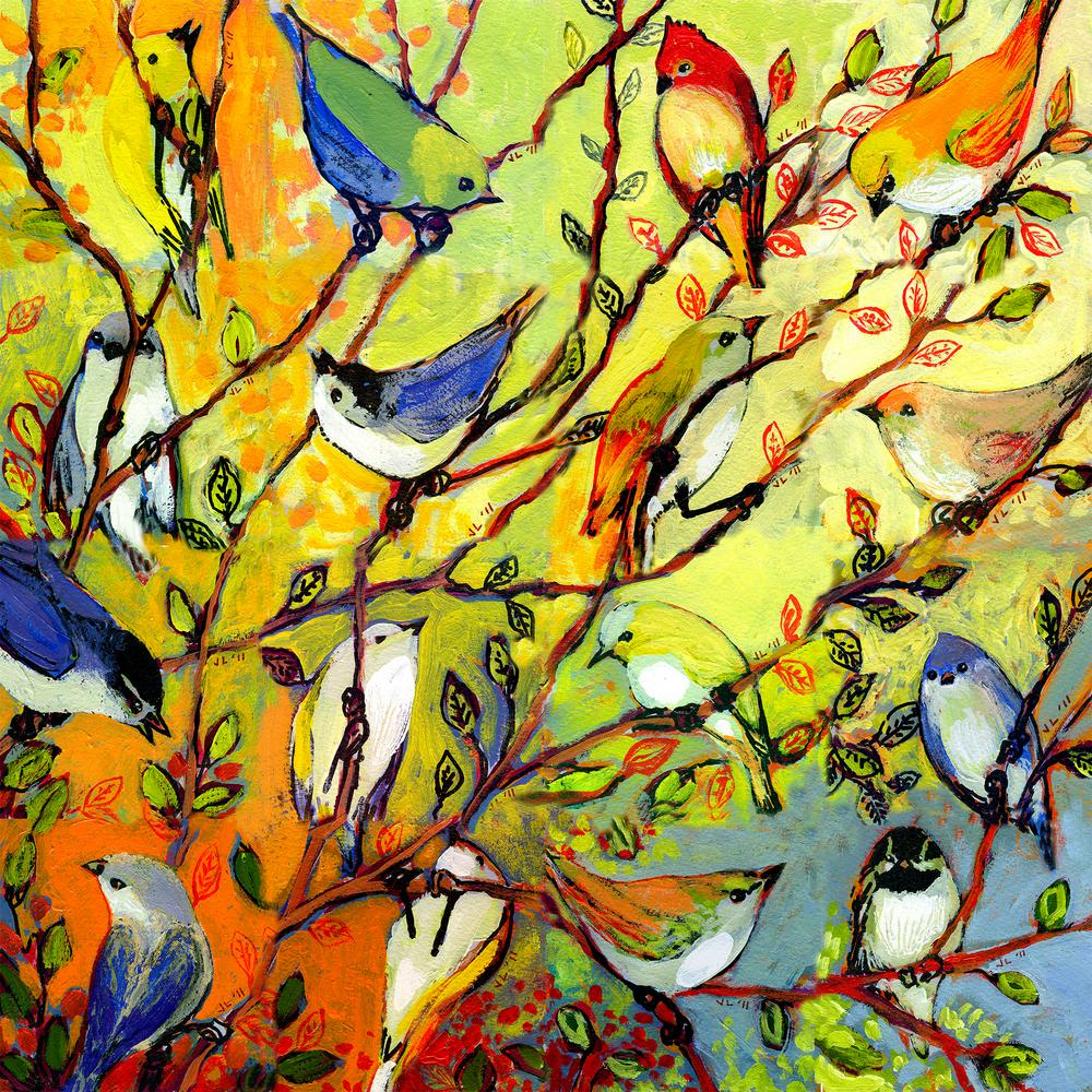 24 in. x 24 in. Birds of a Feather Outdoor Canvas Art-80410 - The ...